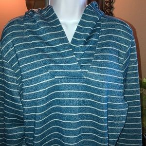 Cute Shimmery Striped Lightweight Hoodie XL